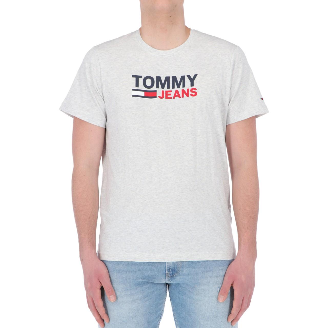 Tommy hilfiger Uomo Tshirt Tommy Hilfiger Jeans Uomo Crop Logo Tee 10214P