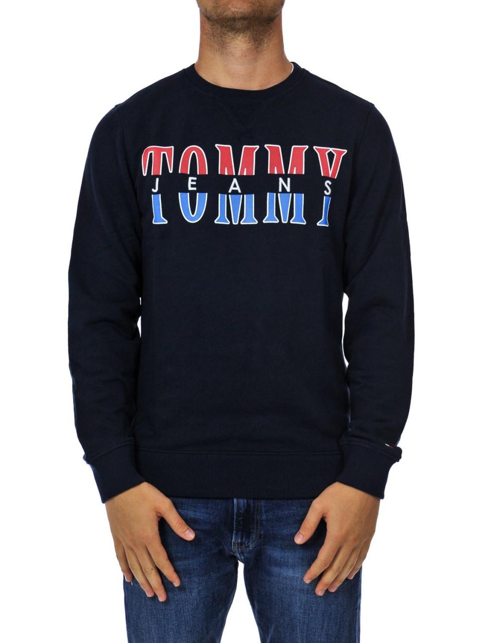 Tommy hilfiger Uomo Felpa Tommy Hilfiger Jeans Uomo Girocollo Logo 04461I