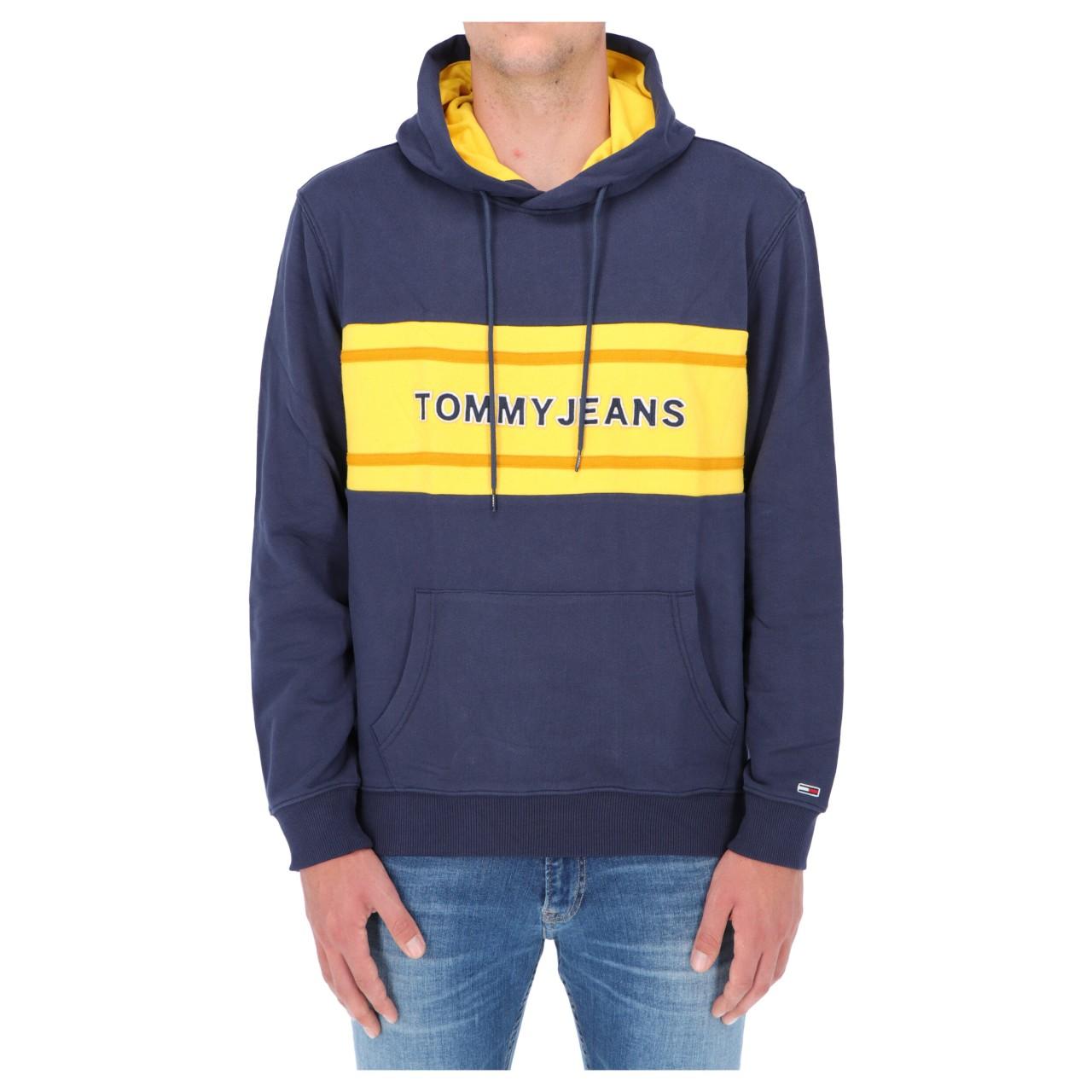 Tommy hilfiger Uomo Felpa Tommy Hilfiger Jeans Uomo Pieced Bend Logo 09651Q