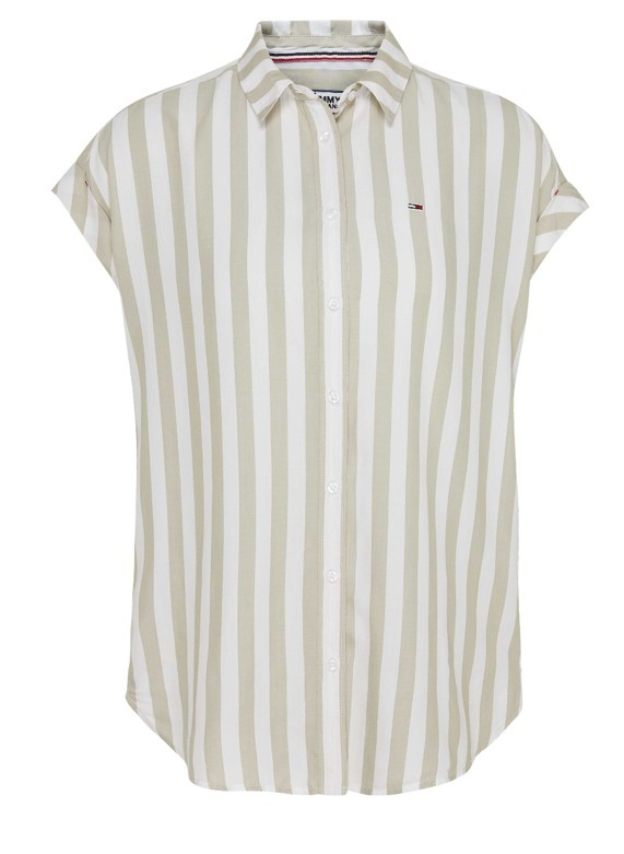 Tommy hilfiger Donna Camicia Tommy Hilfiger Donna Stripe Roll Up 07953N