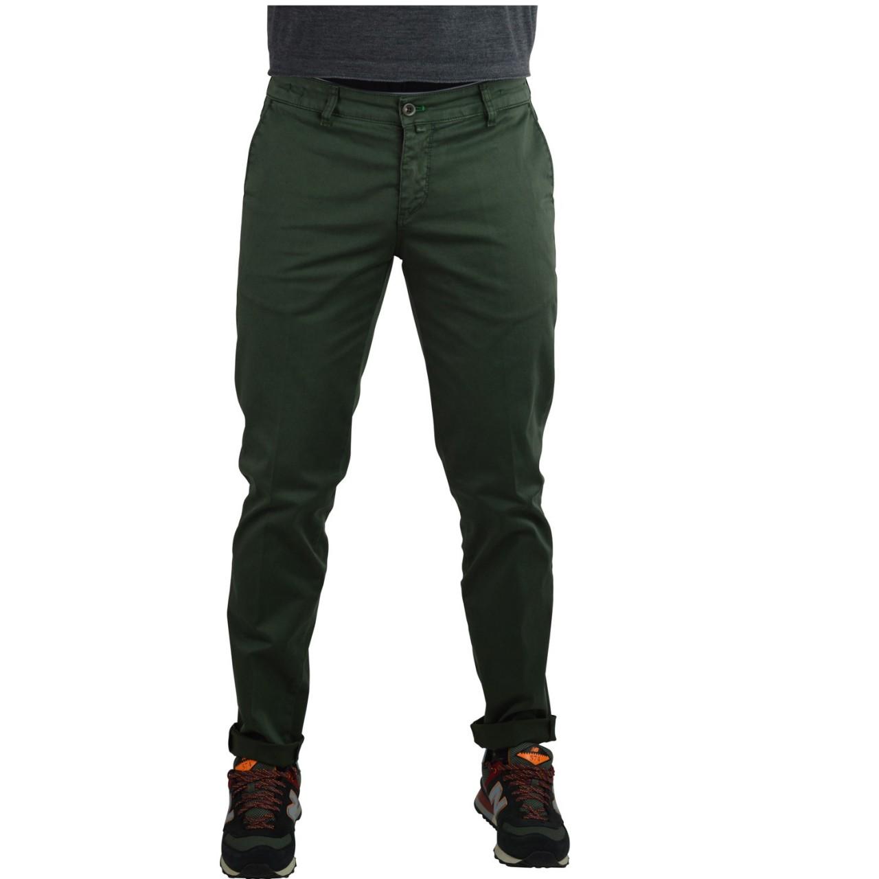 Vincent Uomo Pantalone Uomo Vicent Cotone Caldo Elasticizzato B207C