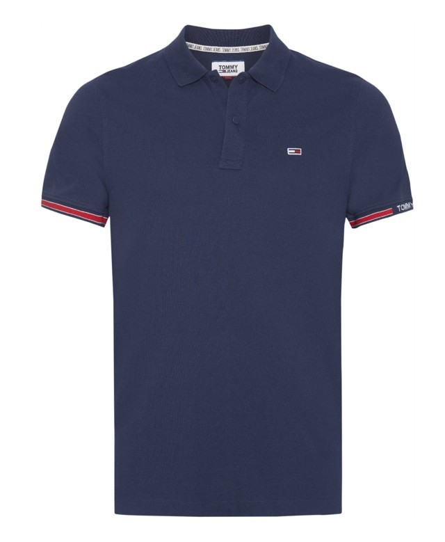 Tommy hilfiger Uomo Polo Tommy Hilfiger Jeans Piquet Stretch Slim Fit 07803N