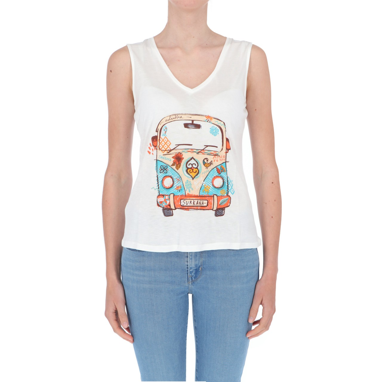 Surkana T-shirt Surkana Donna Stampa Fantasia POKK013P