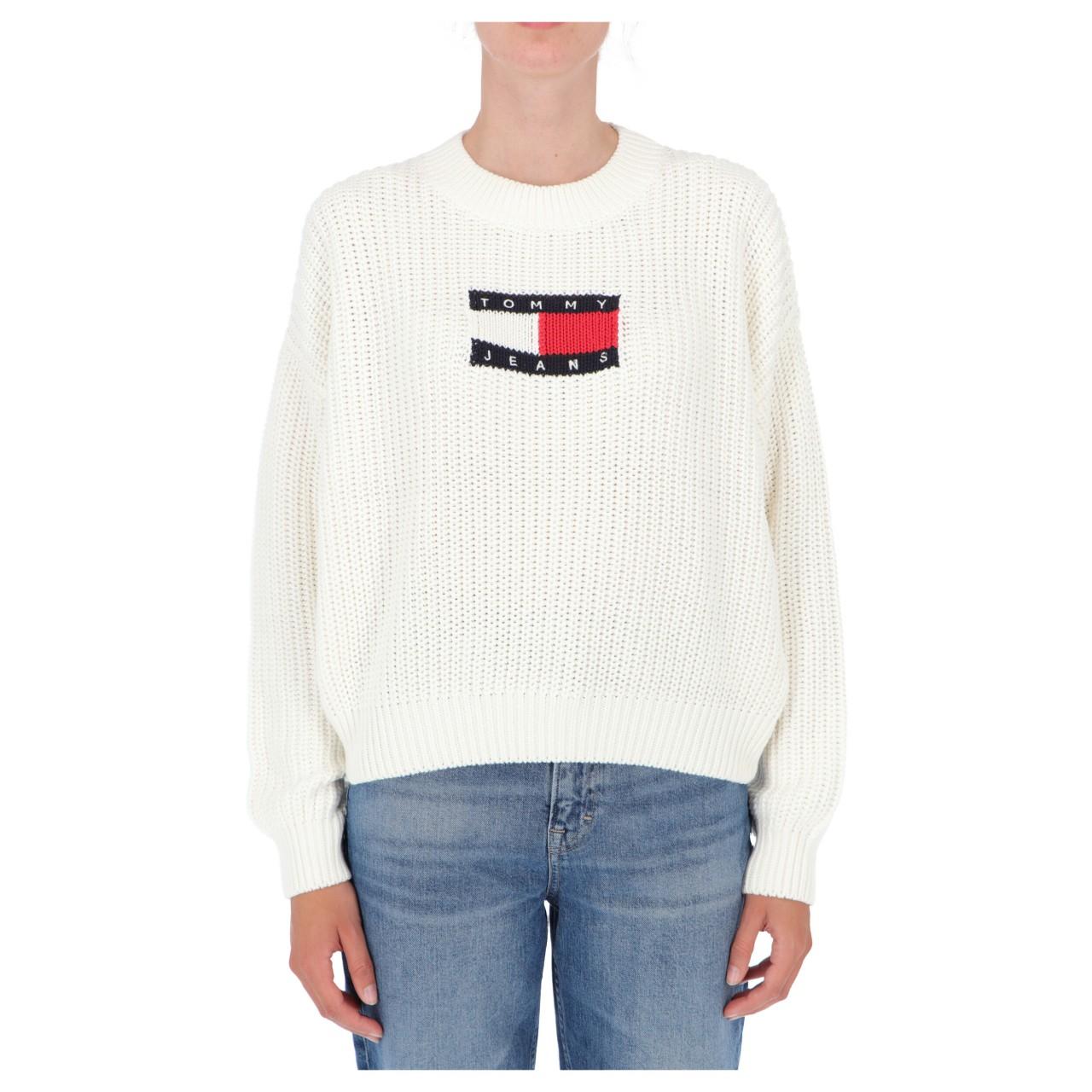 Tommy hilfiger Donna Maglia Tommy Hilfiger Jeans Donna Center Flag Sweater 11001Q