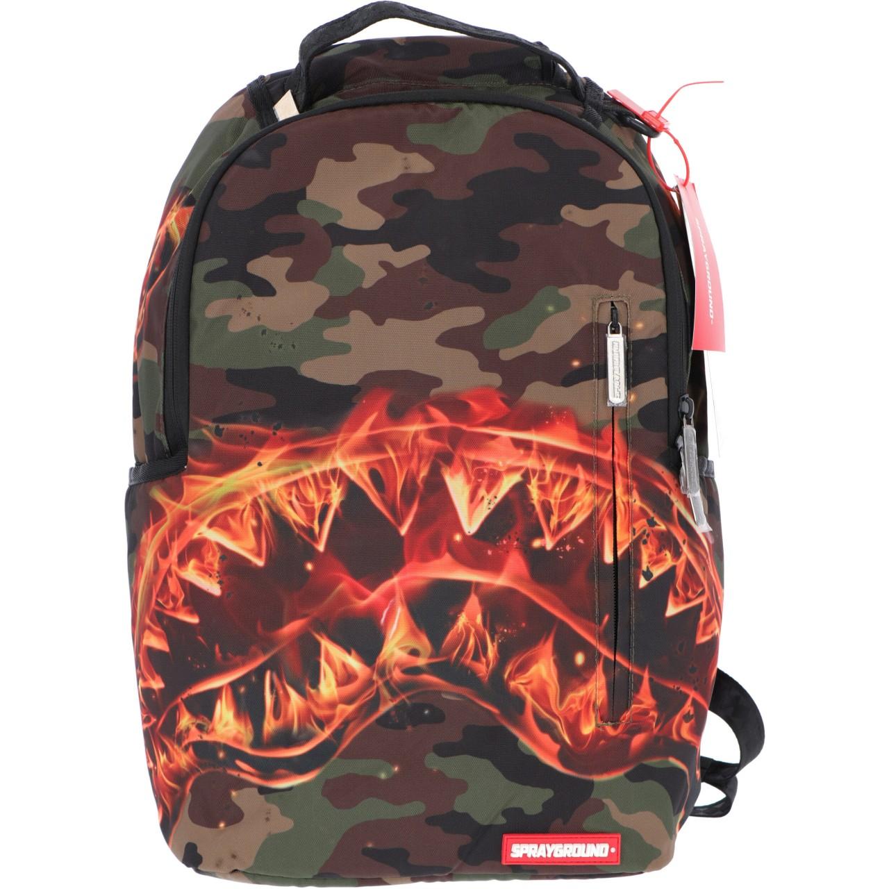 Sprayground Uomo Zaino Sprayground Fire Shark Backpack 2221O