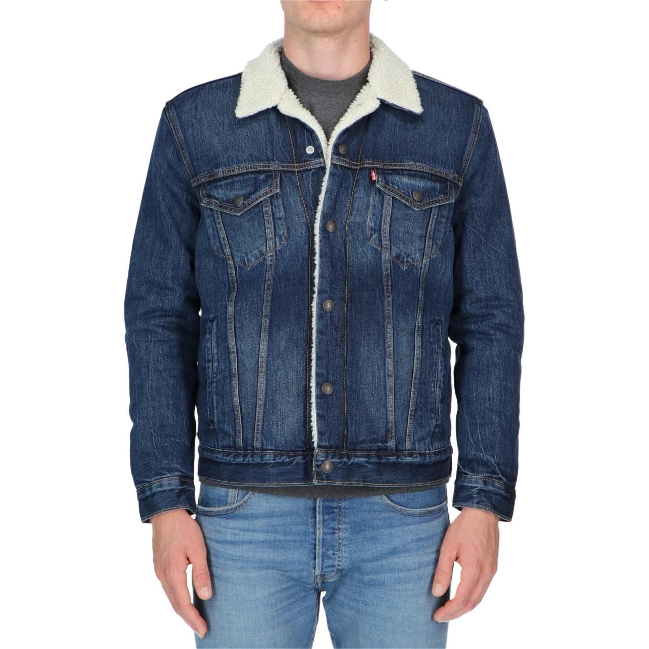 Levi's Uomo Giacca Levi's Uomo Sherpa Jeans 16365M