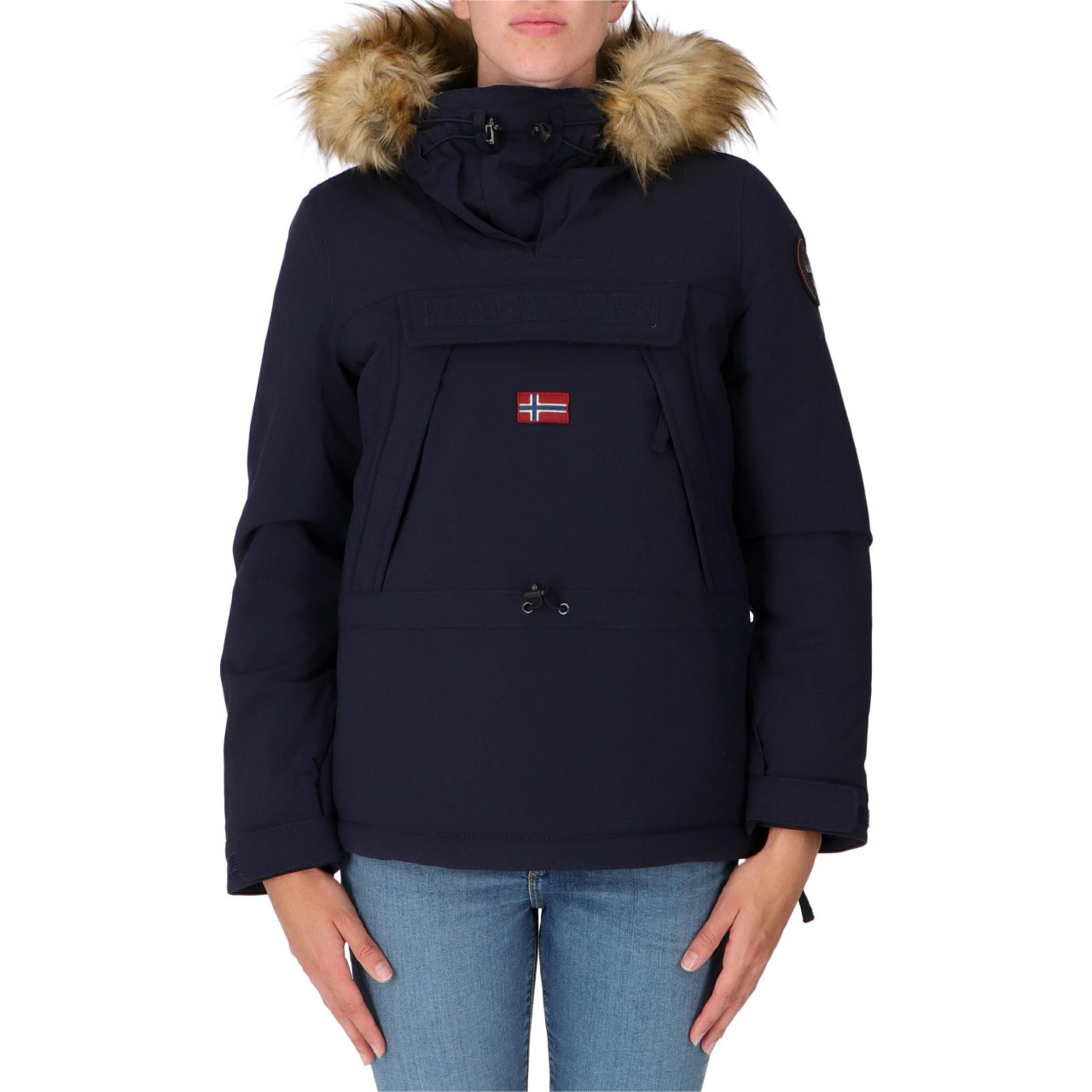 Napapijri Donna Skidoo Napapijri Donna Cordura Fake Fur Icon Cappucci SKIDOOWM