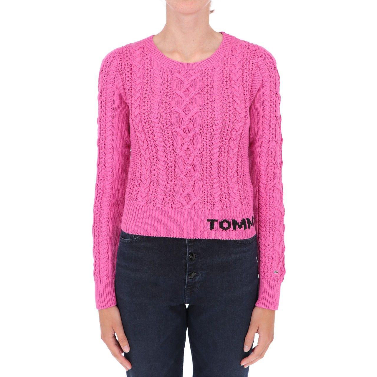 Tommy hilfiger Donna Maglia Tommy Hilfiger Jeans Donna Cable Sweater 11004Q