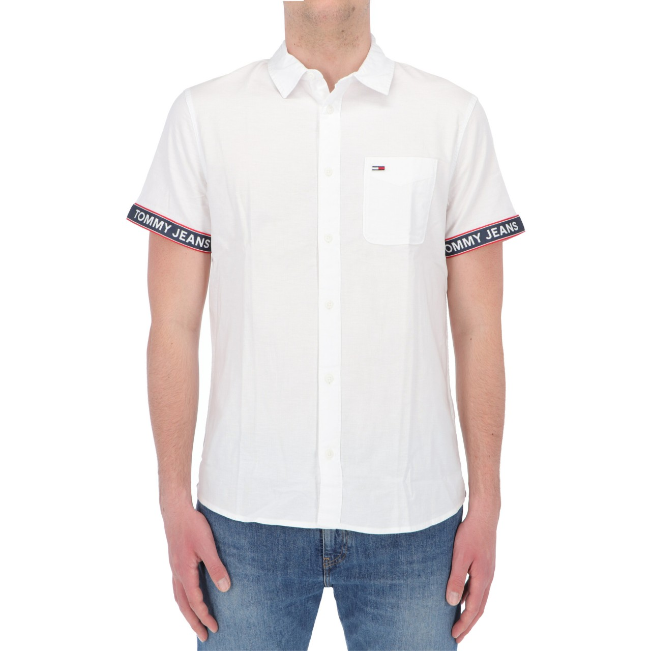 Tommy hilfiger Uomo Camicia Tommy Hilfiger Jeans Uomo Tape Short Sleeve 10143P