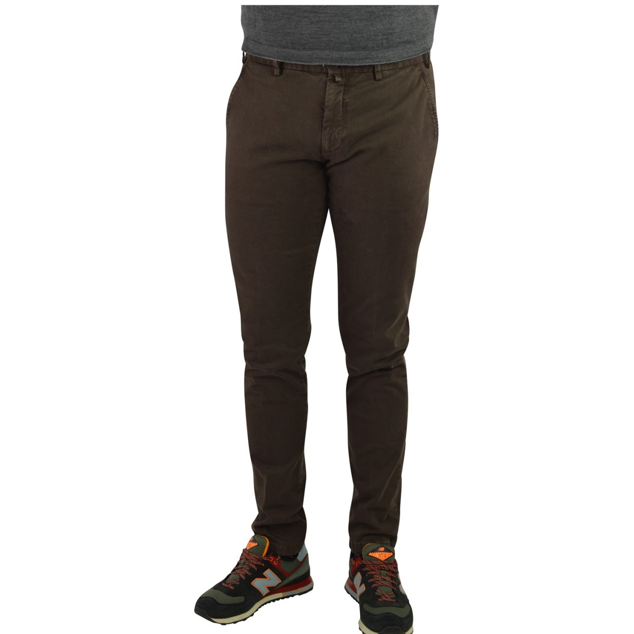 Verdera Uomo Pantalone Verdera Uomo Tessuto Invecchiato Tasca Amer 500137C