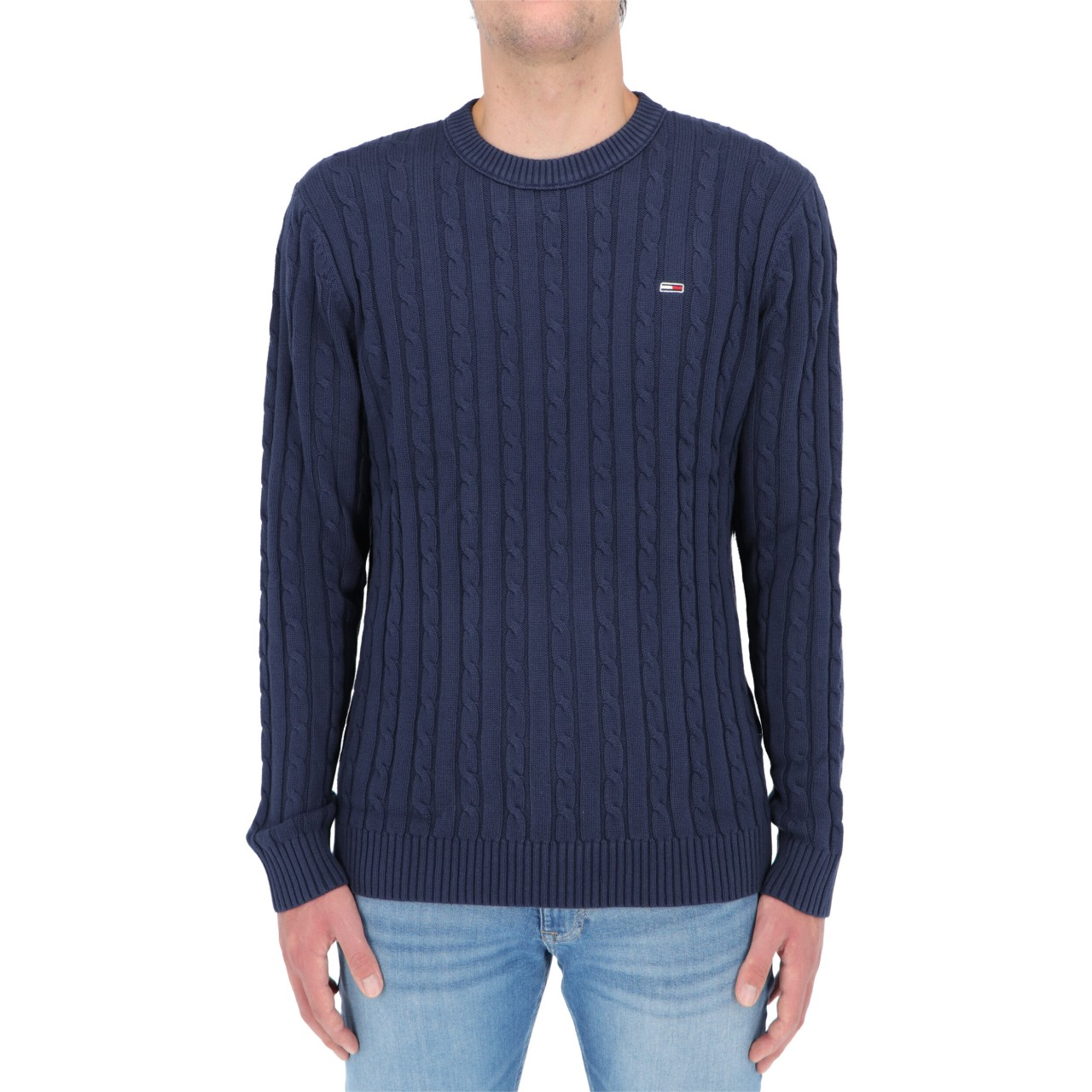 Tommy hilfiger Uomo Maglia Tommy Hilfiger Jeans Uomo Essential Cable Swet 11857Q