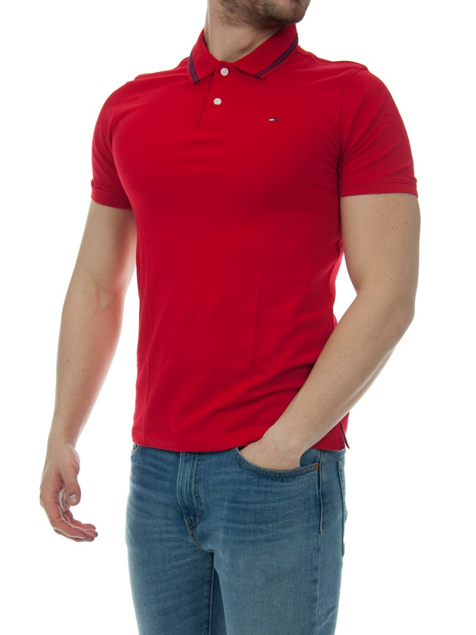 Tommy hilfiger Uomo Polo Tommy Hilfiger Uomo Essential Detail 04109H
