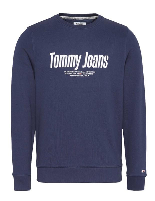 Tommy hilfiger Uomo Felpa Tommy Hilfiger Jeans Uomo Girocollo Graphiccrew 08132N