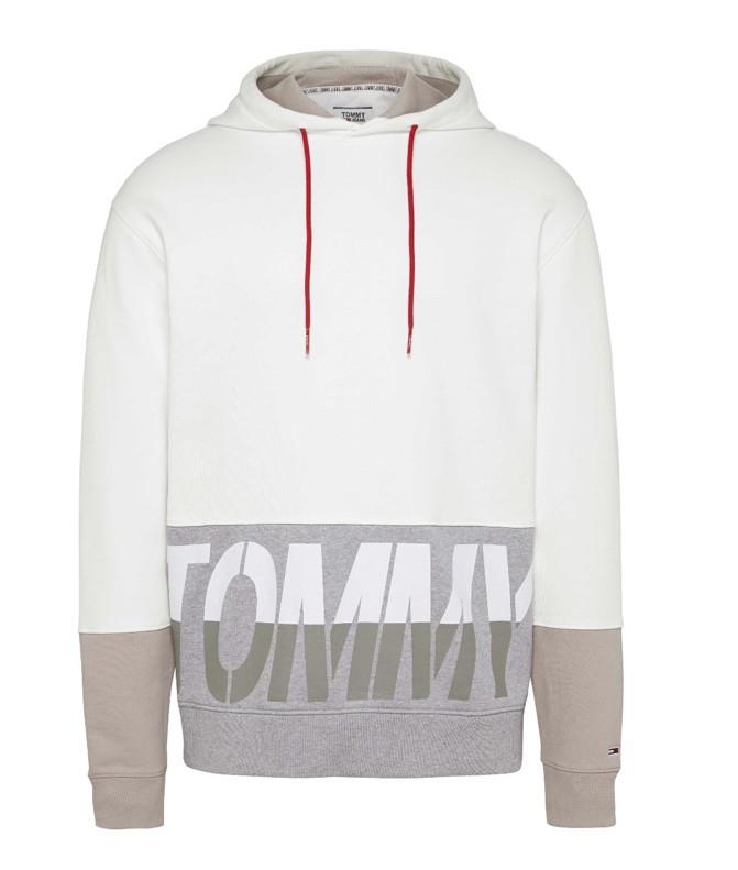 Tommy hilfiger Uomo Felpa Tommy Hilfiger Jeans Capuccio Big Logo Uomo 07876N