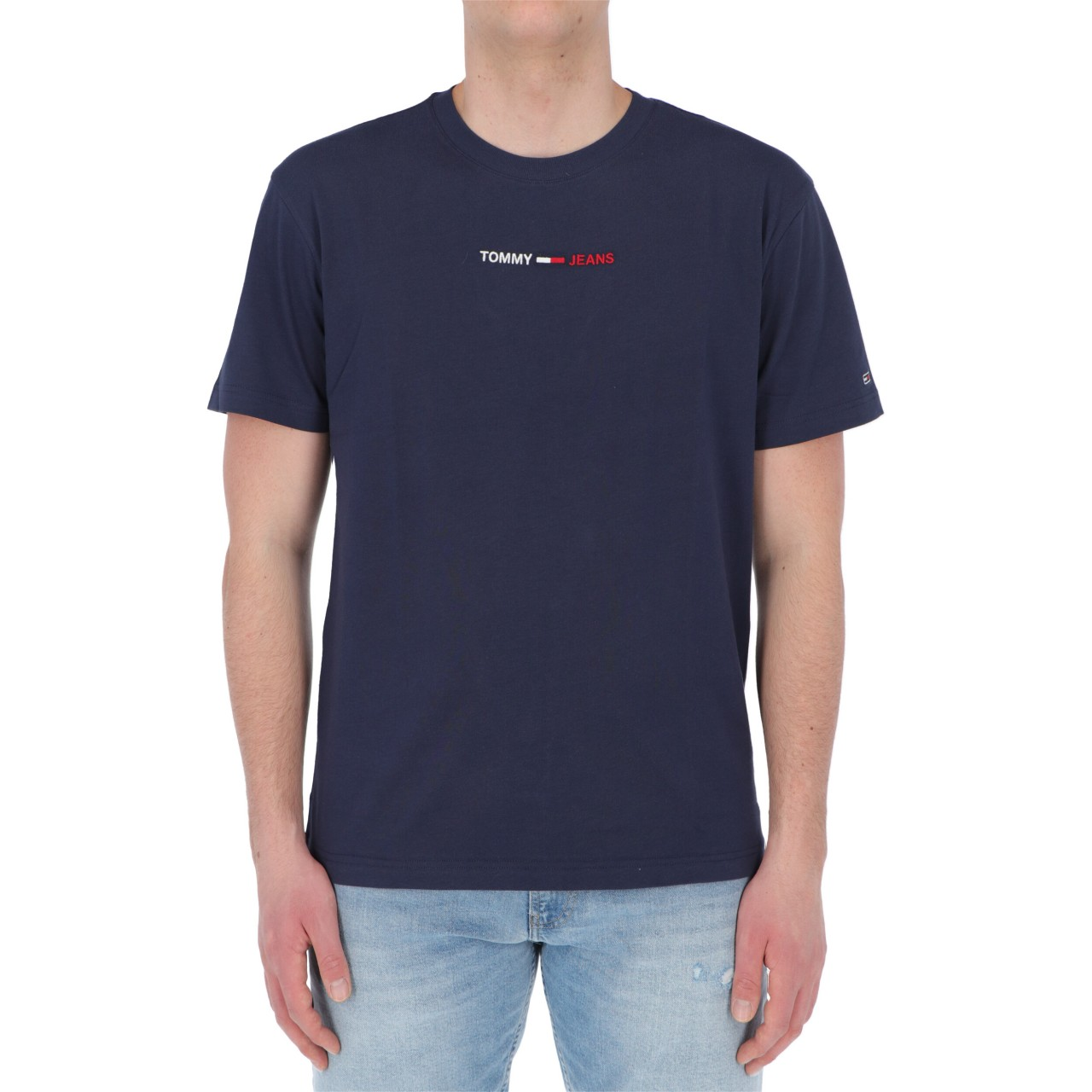 Tommy hilfiger Uomo Tshirt Tommy Hilfiger Jeans Uomo Linear Logo Tee 10219P
