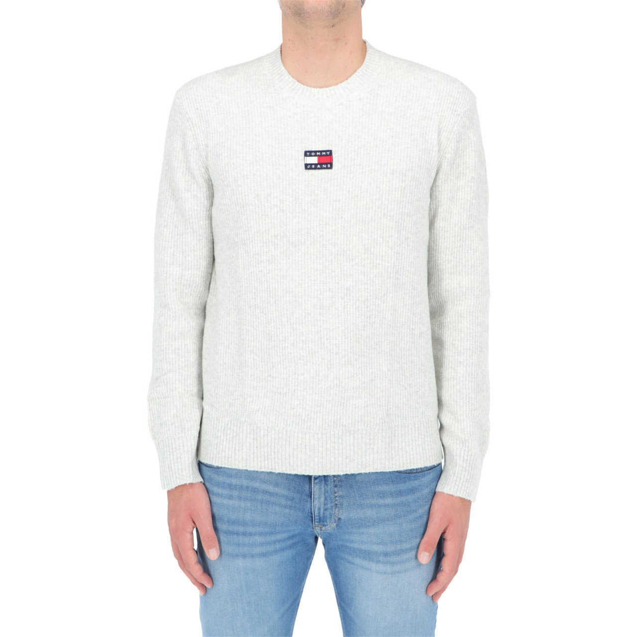 Tommy hilfiger Uomo Maglia Tommy Hilfiger Jeans Uomo Solid Badge Sweater 11341Q