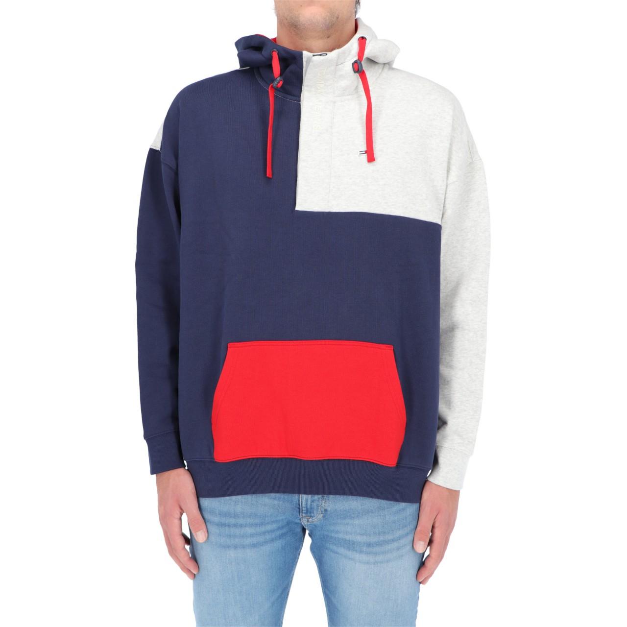 Tommy hilfiger Uomo Felpa Tommy Hilfiger Jeans Uomo Colorblock Hoodie Tjm 11639Q