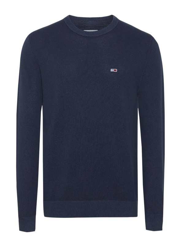 Tommy hilfiger Maglia Tommy Hilfiger Jeans Uomo Cotone Punto Riso 07947N