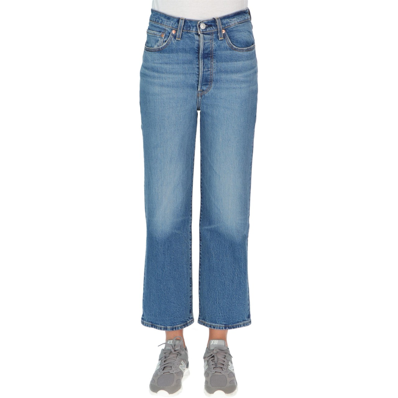 Levi's Donna Jeans Lev's Donna Ribcage Straight Ankle Tango Light 72693M